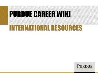 Purdue Career Wiki