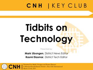 Tidbits on Technology
