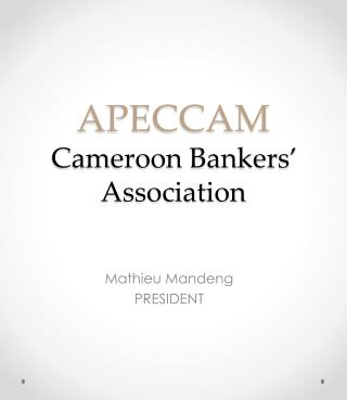 APECCAM  Cameroon Bankers' Association