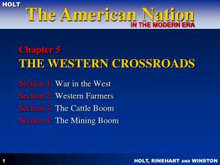 Chapter 5 THE WESTERN CROSSROADS