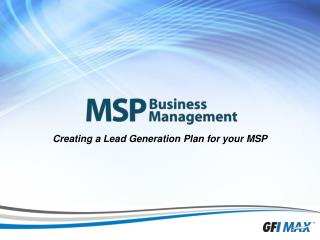 Creating a Lead Generation Plan for your MSP