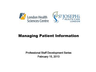 Managing Patient Information
