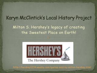 Karyn McClintick's Local History Project