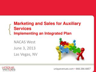 Marketing and Sales for Auxiliary  Services Implementing  an Integrated Plan