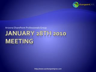 January 28th 2010 meeting