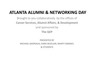 ATLANTA ALUMNI & NETWORKING DAY