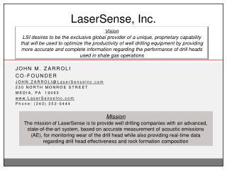 LaserSense, Inc.