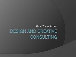 design and Creative consulting