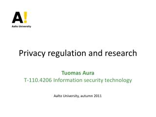Privacy regulation and research