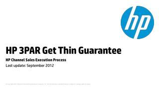 HP 3PAR Get Thin Guarantee