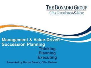Management & Value-Driven Succession Planning
