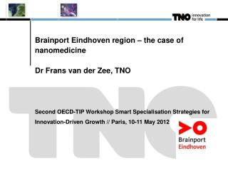 Brainport  Eindhoven region – the case of  nanomedicine Dr  Frans  van der Zee, TNO