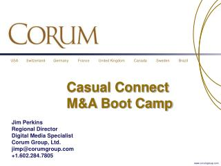 Casual Connect M&A Boot Camp