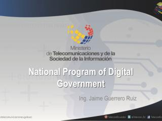 National Program of Digital Government