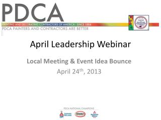April Leadership Webinar