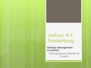 Joshua  R.Y. Fradenburg