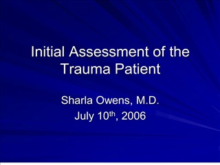 initial assessment of the trauma patient
