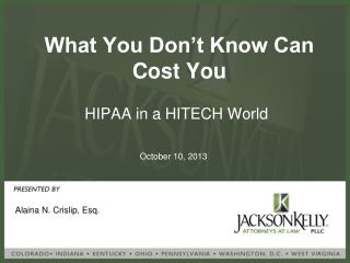 What You Don't Know Can Cost You