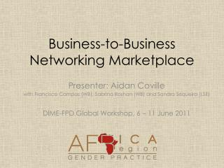 Business-to-Business Networking Marketplace