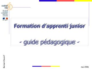 formation d apprenti junior  - guide p dagogique -
