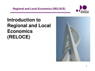 Introduction to Regional and Local Economics (RELOCE)