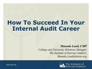 How To Succeed In Your Internal Audit Career