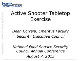 Active Shooter Tabletop Exercise