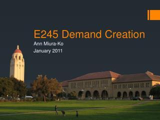 E245 Demand Creation