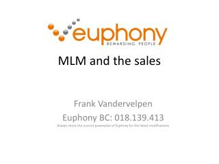 MLM and the sales