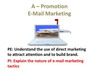 A – Promotion E-Mail Marketing