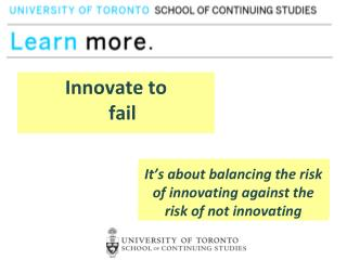 Innovate to  succeed