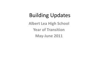 Building Updates
