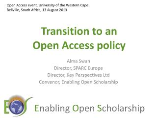 Transition to an  Open Access policy