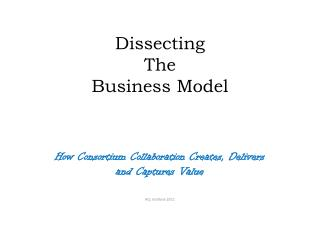 Dissecting  The  Business Model