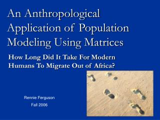 an anthropological application of population modeling using matrices