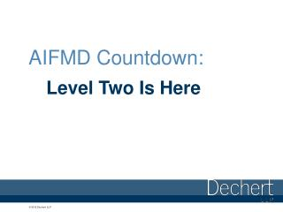 AIFMD Countdown: