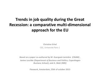 Trends in job quality during the Great Recession: a comparative multi-dimensional approach for the EU