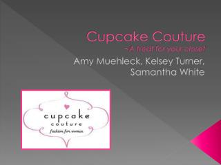 Cupcake Couture ~ A treat for your closet
