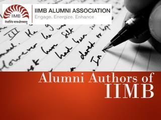 Alumni Authors of