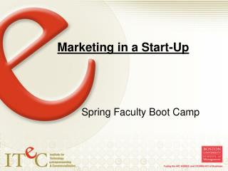 Marketing in a Start-Up