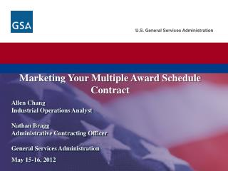 Marketing Your Multiple Award Schedule  Contract