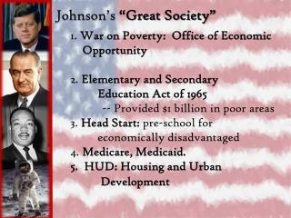 "Johnson's  ""Great Society"""