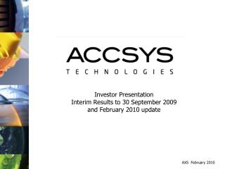 Investor Presentation Interim Results to 30 September  2009 and February 2010 update
