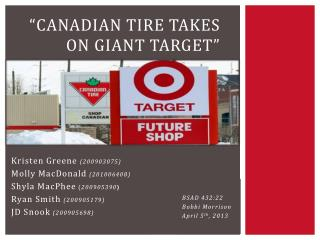 """""""Canadian Tire takes  on Giant Target"""""""
