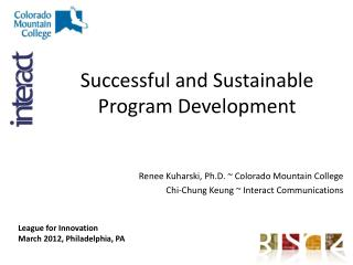 Successful and Sustainable Program Development