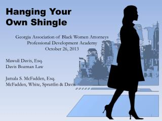 Hanging Your  Own Shingle