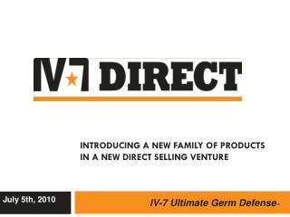 Introducing a New Family of Products  in a New Direct Selling Venture