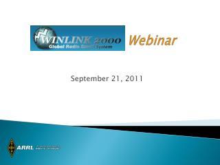 Winlink 2000 Webinar
