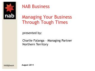 NAB Business Managing Your Business Through Tough Times