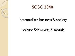 SOSC 2340
